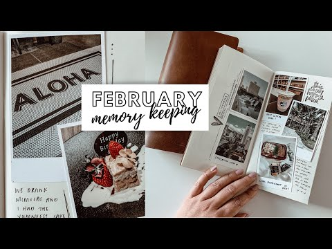 FEBRUARY 2020 MEMORY KEEPING ♡ Bullet Journal/Traveler's Notebook Scrapbooking   Journal With Me