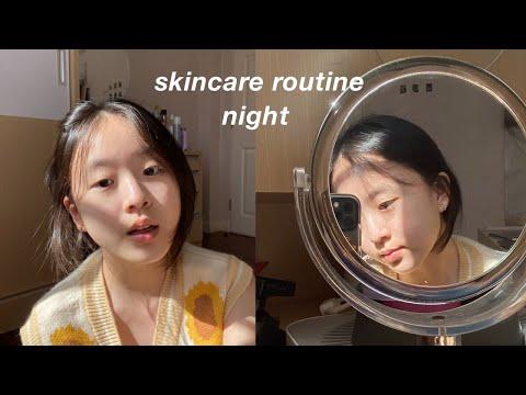 Night Skincare routine💧  ใช้อะไรถึงหน้าใสขึ้น , ใช้เเล้วชอบของมายด์   Mildd S