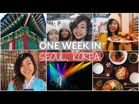ONE WEEK IN SEOUL | STREET FOOD | TRAVEL VLOG | MYEONGDONG S