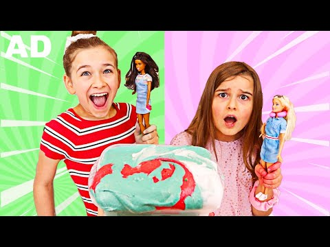 TURN THIS SLIME INTO A BARBIE SLIME CHALLENGE! | JKrew