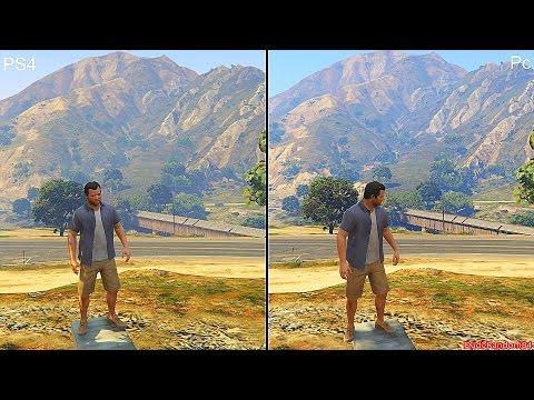 GTA 5 Pc Vs PS4 Graphics Comparison