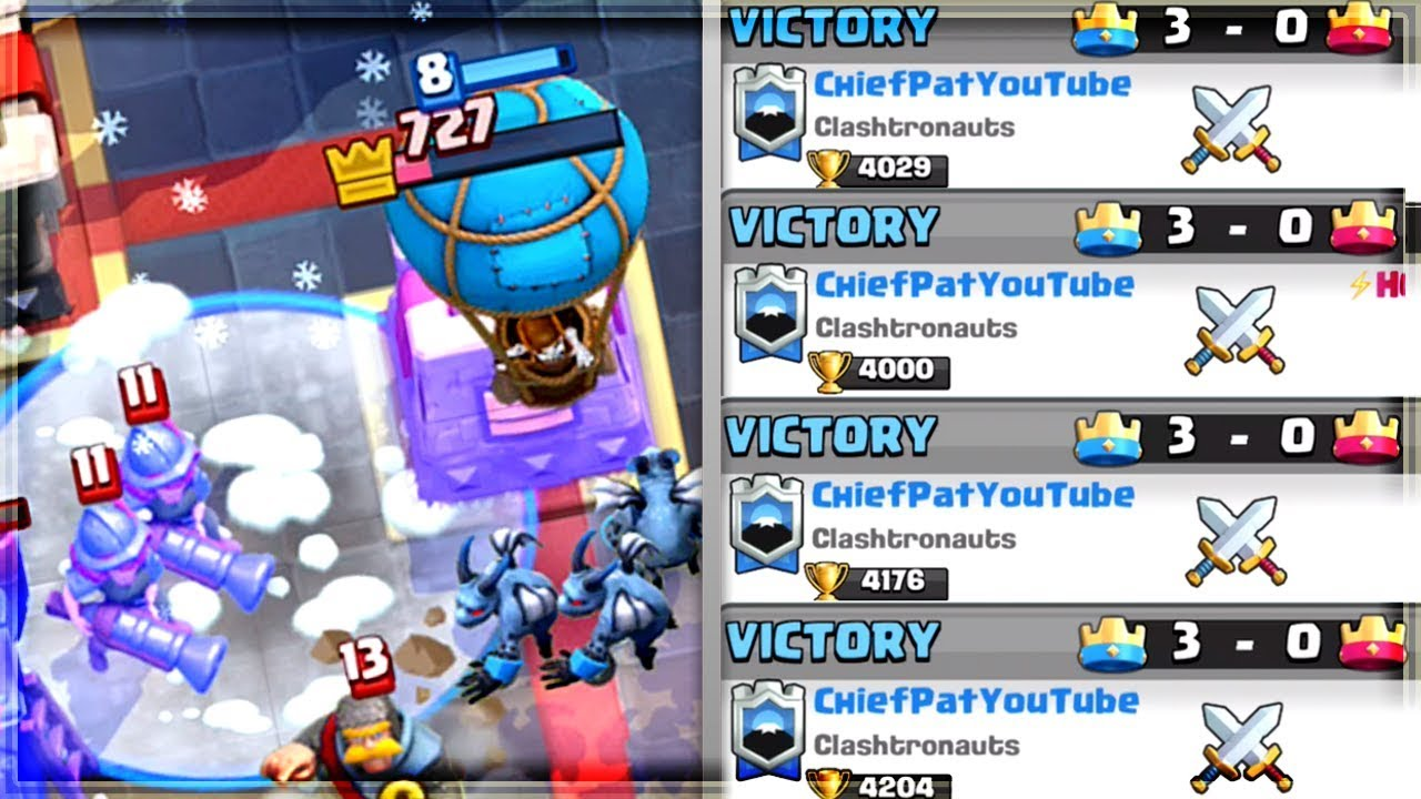 Clash Royale - 500+ TROPHIES IN 1 HOUR! Big Push