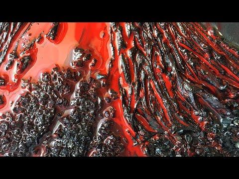 Epoxy Resin Volcano Lava Flow Art