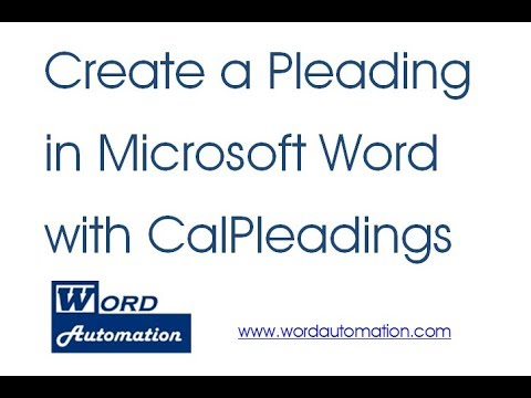 create and format a legal pleading in microsoft word youtube