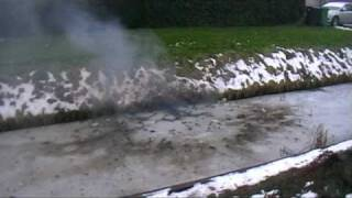 vuurwerk onder het ijs en in een pompoen
