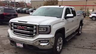 2018 GMC Sierra 1500 4WD Crew Cab SLT On Board Navigation White Oshawa Stock #180189