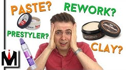 Men's Hair Product Guide - Choose The Best Product for Your Hair? Waxes and Product Comparison