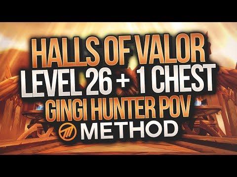 LVL 26+1 MYTHIC+ Halls of Valor - Method - Gingi Hunter POV