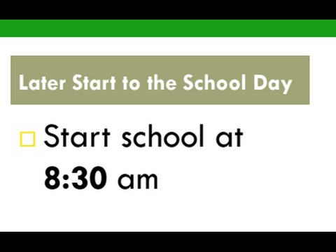 Why should school start later during the day?