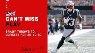 Tom Brady Connects w/ Dorsett for 25-Yd TD