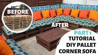 HOW TO MAKE PALLET SOFA | SIMPLE DIY TUTORIAL | BUDGET PATIO MAKEOVER | PART 1