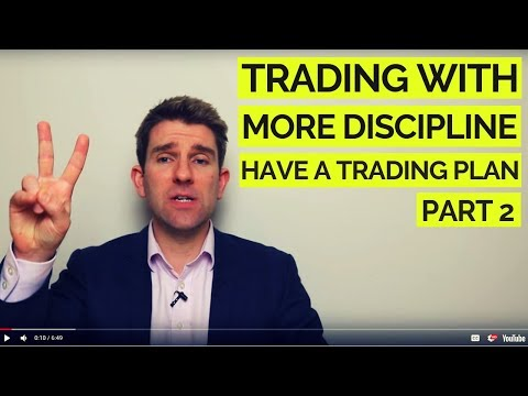 Trading with More Discipline: Develop a Trading Plan; Part 2 ✊