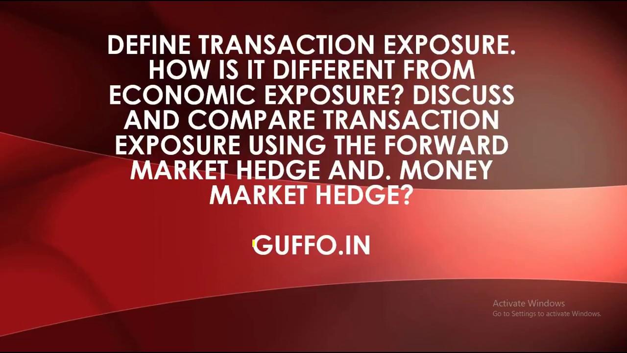 what is economic exposure