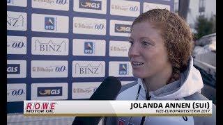 1. Bitburger 0,0% Triathlon-Bundesliga - Binz 2017: Jolanda Annen im Siegerinterview