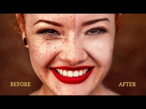 Easy Tutorial - Spot, Dust, Pimple Remove from Face Beauty Retouching by Adobe Photoshop thumbnail