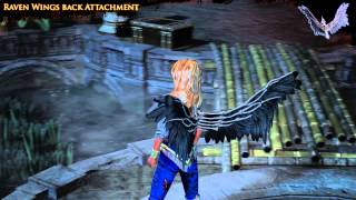 Path of Exile -  Raven Wings Back Attachment