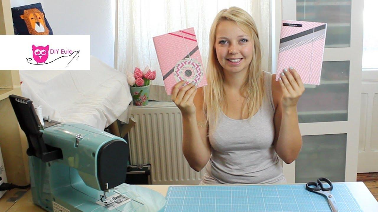 Notizheft selber basteln und binden – DIY Eule - YouTube