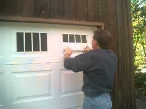 Faux Fake Carriage Garage Door Window Illusion Installation