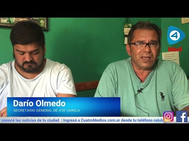 """Darío Olmedo de ATE Florencio Varela con Cuatro Medios: """"Este ajuste sigue sumando más pobres"""""""