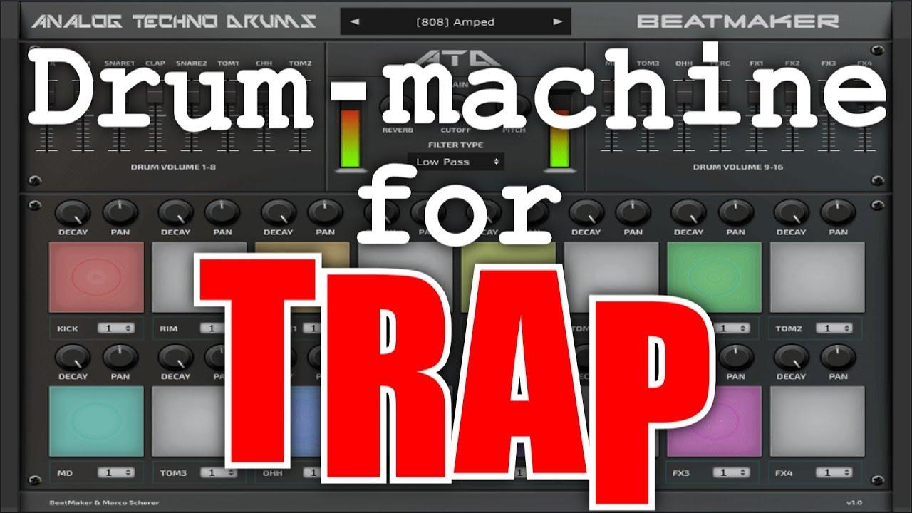 vst drum machine for trap beatmaker analog techno drums demo youtube. Black Bedroom Furniture Sets. Home Design Ideas