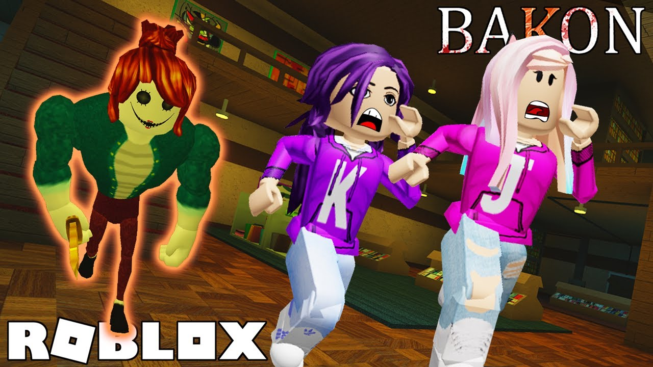 Roblox Library Video Escape The Library From Bakonette Roblox Bakon Chapter 2 Youtube
