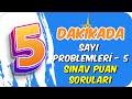 5dk'da SAYI PROBLEMLERİ 5- SINAV PUANI SORULARI