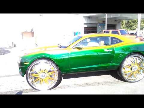 Camaro on 32 inch rims floaters