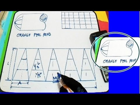 Template layout for an Orange Peel Head and Formula - Piping - YouTube