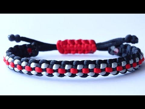 DIY Macrame Style Bracelet Checkered Pattern/Square Cobra Knot Sliding Knot/Snake Knot Pull Tab-CBYS