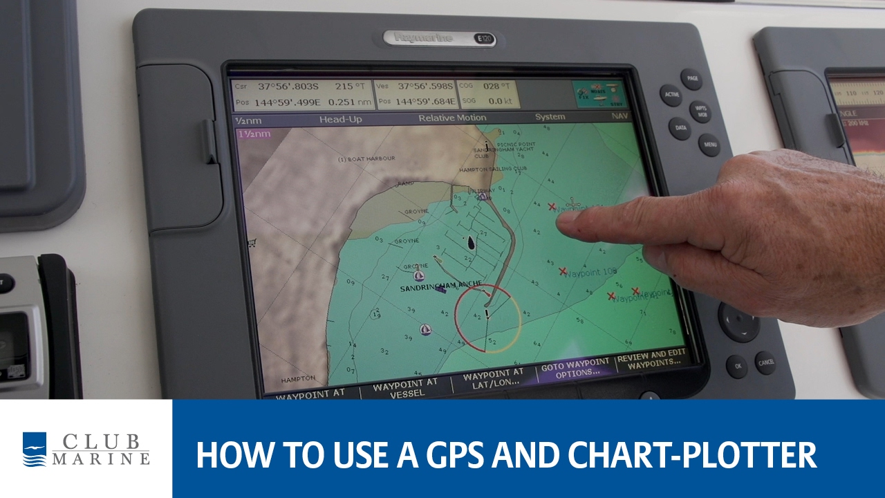 How to use a gps and chart plotter youtube