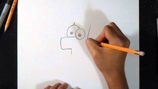 """Cómo dibujar a """"Ferb""""   Phineas y Ferb"""