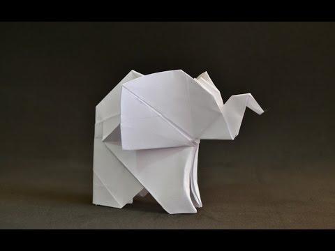 Origami Baby Elephant Fumiaki Kawahata Youtube