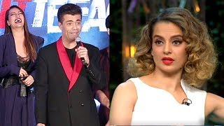 Karan Johar OPENLY Insults Kangana Ranaut's NEPOTISM Comment In Public