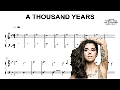 Christina Perri  A thousand years EASY piano sheet