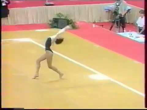 Andrea MOLNAR HUN floor  1993 European Cup Brussels EF