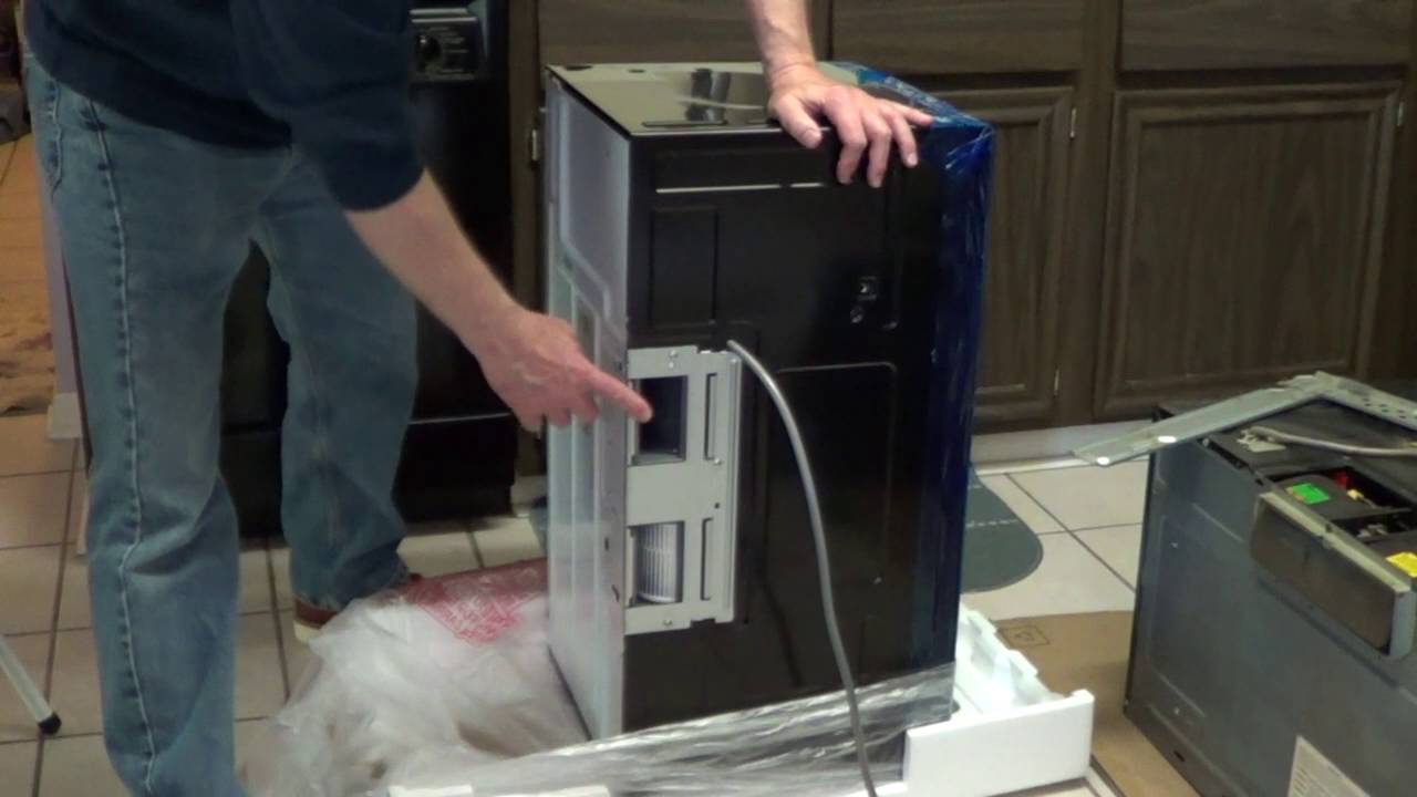 Over the range microwave installation ge microwave youtube - How to vent a microwave on an interior wall ...