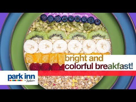 Bright and colorful breakfast at park Inn by Radisson!