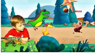 Игра про Динозавров для Детей Защищаем Яйцо от Траглодитов  Мультик про Динозавров Lion boy
