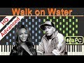 Eminem feat. Beyoncé - Walk on Water I Piano Tutorial by MLPC