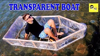 TRANSPARENT BOAT FROM SILICON FILM - DIY