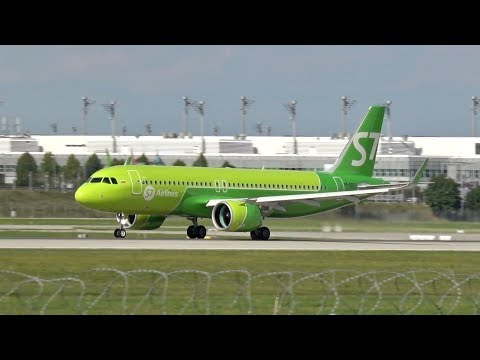 S7 Siberia Airlines Airbus A320-271N VQ-BCF departure at Munich Airport Abflug Flughafen München