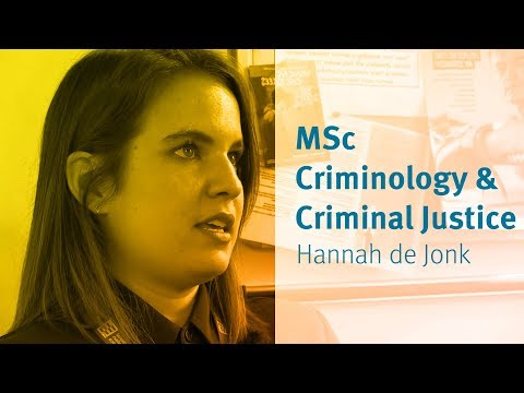 MSc Criminology and Criminal Justice at City University London