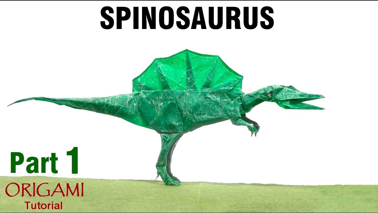 Origami Spinosaurus Tutorial Shuki Kato Part 1 Dinosaur Dinosaurier