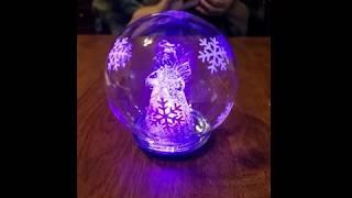 Glass Christmas Angel Snow Globe Christmas Angel