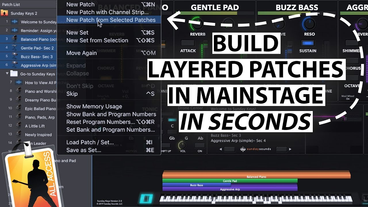 Perfect MainStage Worship Patches- No Sound Design Experience Required!