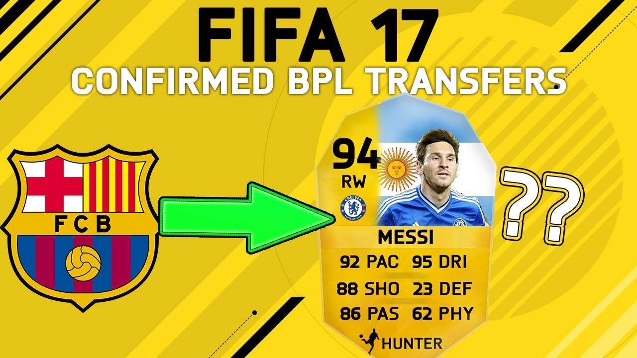 FIFA 17! BEST CONFIRMED BPL TRANSFERS! FIFA 17 CONCEPT CARD DESIGN