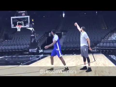 JaVale and Ian Clark argue about a traveling call in 1-on-1 vs Looney, McCaw, McAdoo, Damian Jones