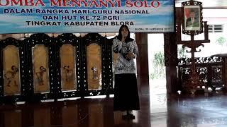 Dirgahayu Pgri Juara 1 Solo Putri Kab Blora