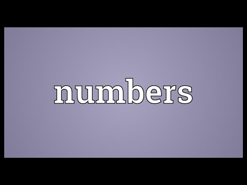 Numbers Meaning