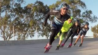 Slow mo. Patinaje de velocidad en la pista-velodromo de San Isodro (21/04/17)